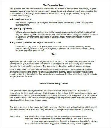 Microsoft Word Essay Template - 9+ Free Word Documents Download