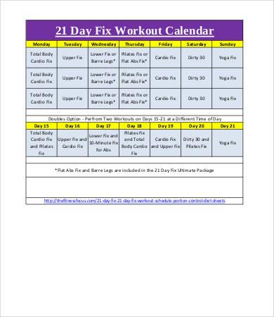 7+ Workout Calendar Templates - Free Sample, Example Format - workout calendar template