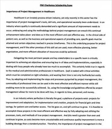 Scholarship Essays Example - 7+ Free Word, PDF Documents Download