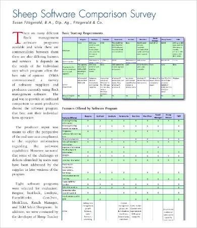 Comparison Survey Template - 9+ Free Word, PDF Documents Download