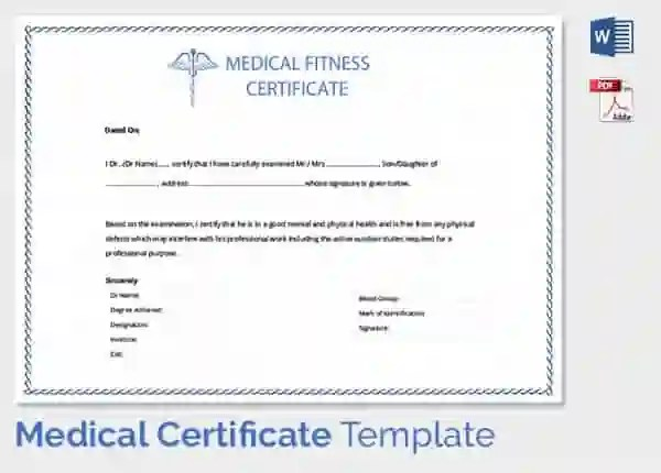 medical fitness certificate format for new employee - Maggi