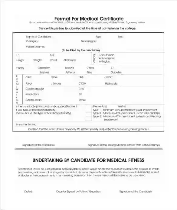 medical fitness certificate format for new employee - Ozilalmanoof