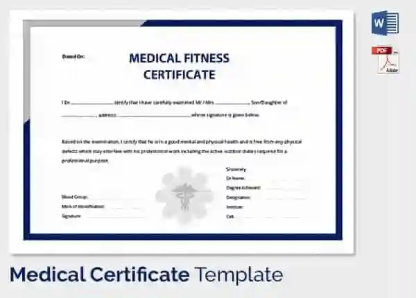 Medical Certificate Template - 33+ Free Word, PDF Documents - certificate sample in word