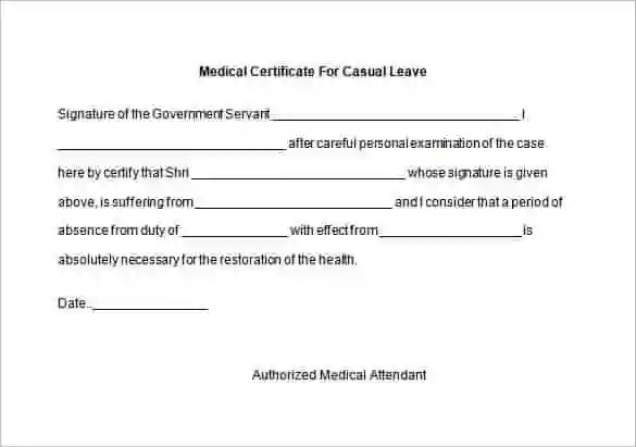 doctor certificate format for sick leave - Canasbergdorfbib