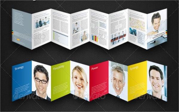 8 panel brochure template indesign
