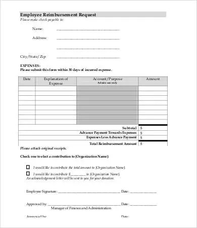 Reimbursement Form Mileage Reimbursement Form Mileage Reimbursement - Mileage Reimbursement Forms