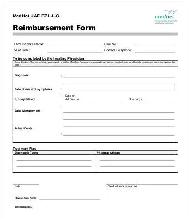 Reimbursement Form Template - 10+ Free Excel, PDF Documents Download