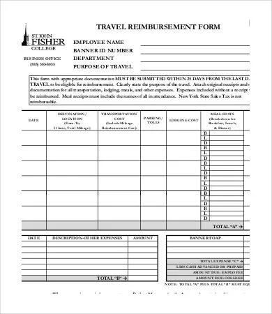 Reimbursement Form Template - 10+ Free Excel, PDF Documents Download