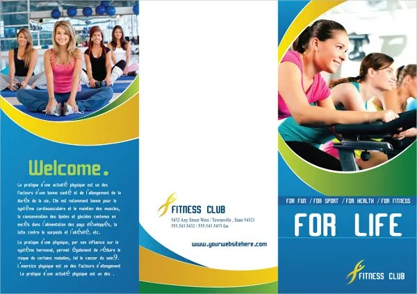 Fitness Brochure - 9+ Free PSD, Vector AI, EPS Format Download - Fitness Brochure