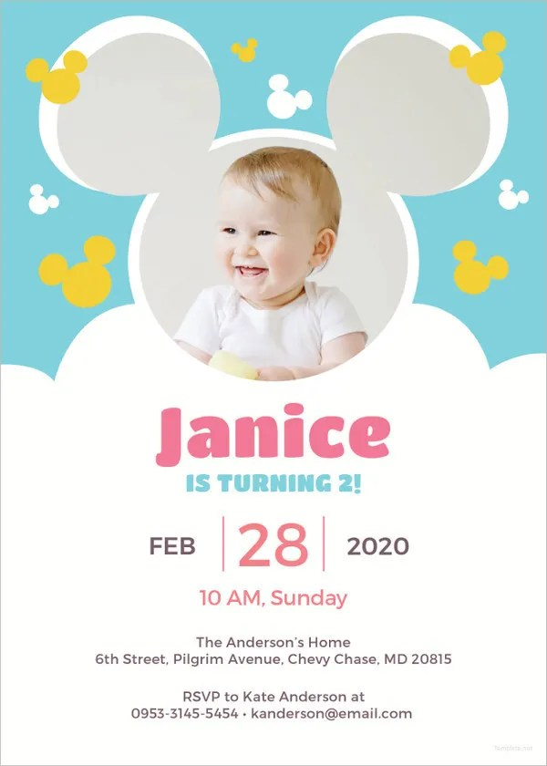 11+ Disney Invitation Templates - Free Sample, Example, Format