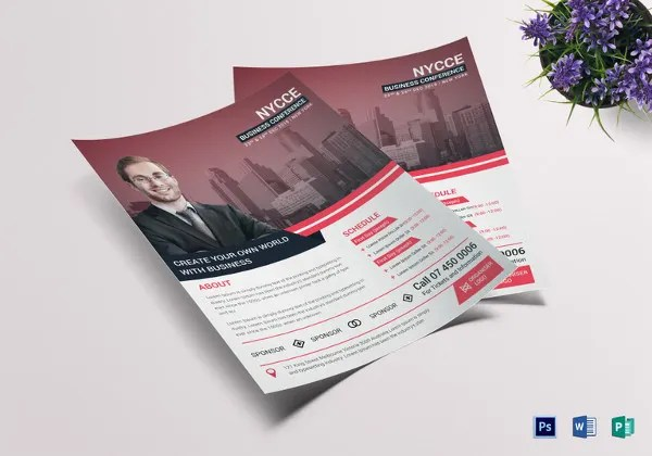 26+ Best Conference Flyer Designs - PSD, AI, Vector EPS Free