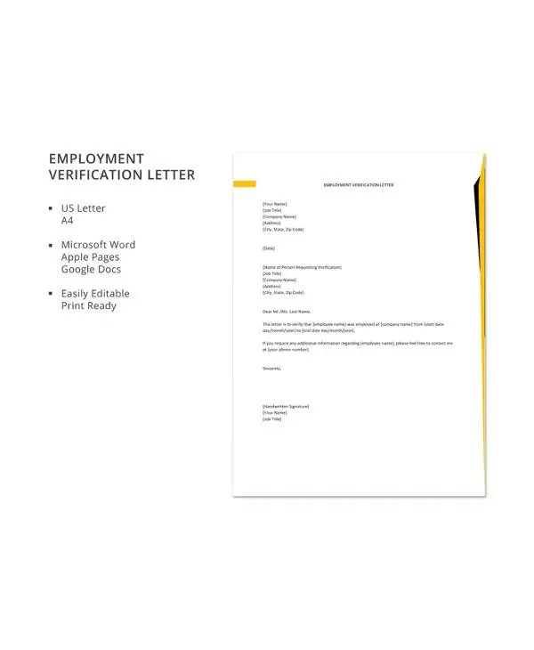 Employee Verification Letter - 14+ Free Word, PDF Documents Download