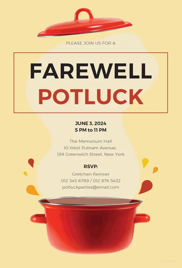 26+ Farewell Invitation Templates - PSD, EPS, AI Free  Premium