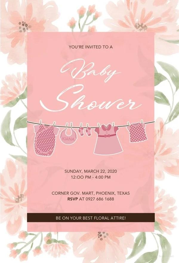 14+ Free Printable Baby Shower Invitations Free  Premium Templates
