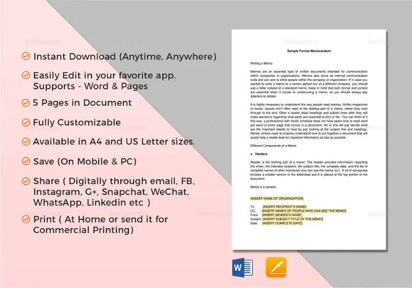 Memorandum Format - 15+ Free Word, PDF Documents Download Free