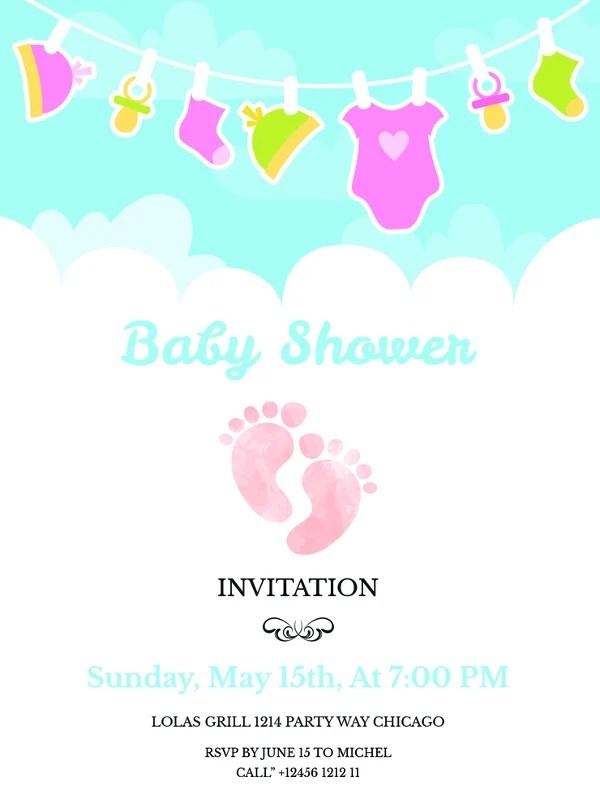 14+ Free Printable Baby Shower Invitations Free  Premium Templates - free baby shower invitation template