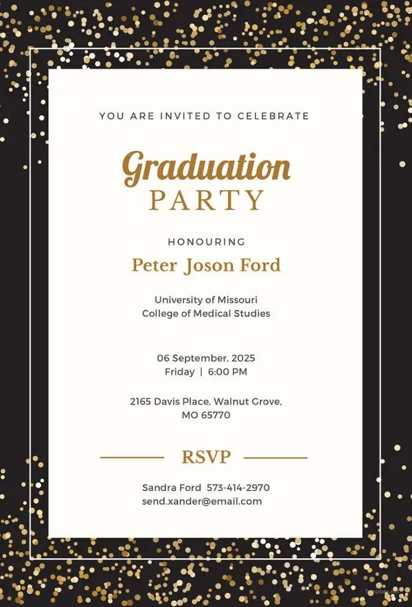 free party invite templates for word