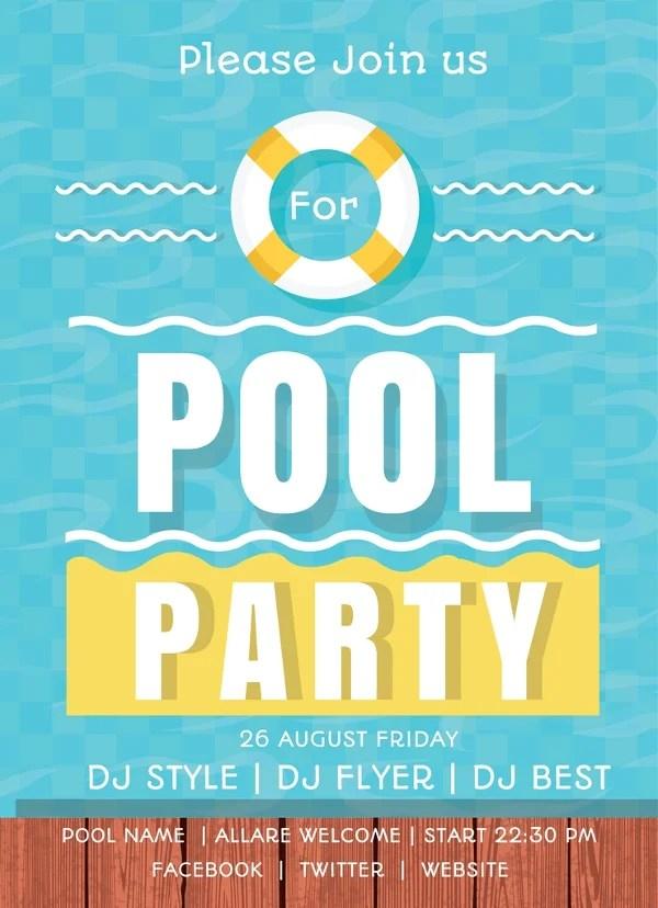 Free Pool Party Invitation Templates - Printable, Swimming Free