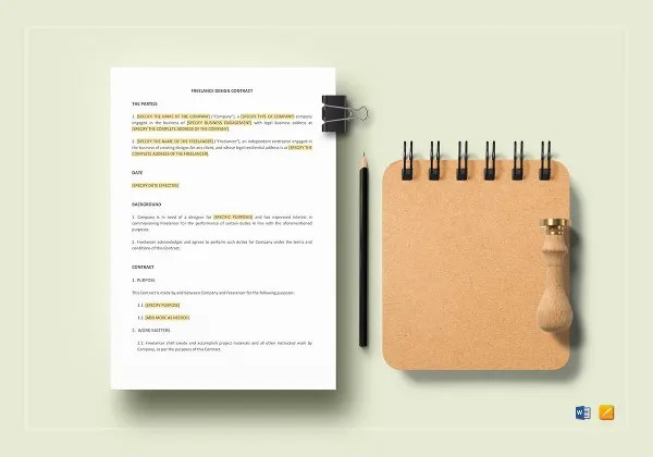 13+ Sample Freelance Contract Templates - Free, Sample, Example - sample freelance contract template