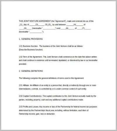 60+ Agreement Template u2013 Free Word, PDF Documents Download Free - joint partnership agreement template