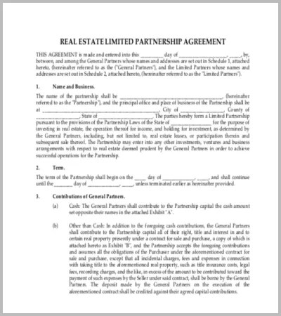 60+ Agreement Template \u2013 Free Word, PDF Documents Download Free - real estate partnership agreement