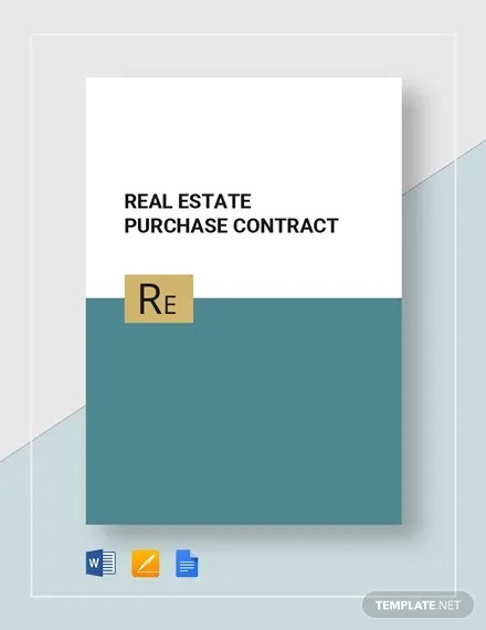 14+ Real Estate Contract Templates - Word, Pages, Docs Download