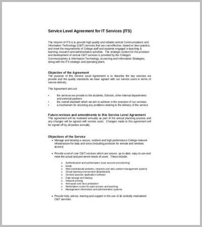 It Service Agreement Template master service agreement template - sample vendor contract