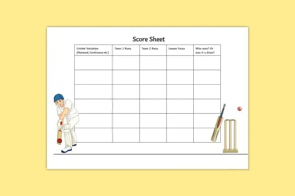 Score Sheet Template - 26+ Free Word, PDF Documents Download Free