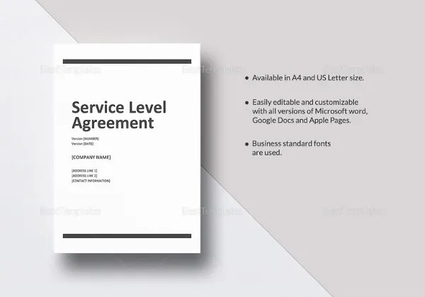 Service Level Agreement Template - 15+ Free Word, PDF Documents - agreement in word