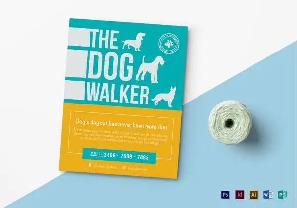 15+ Dog Walking Flyer Templates - PSD, Vector EPS, AI Format