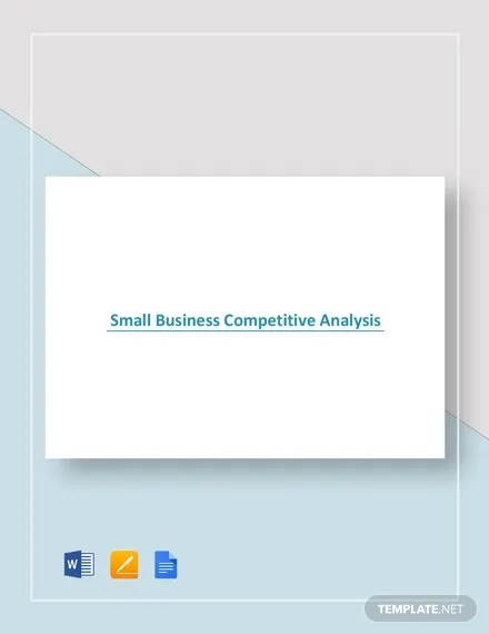 Competitive Analysis Template - 15+ Free PDF, Word Format Free