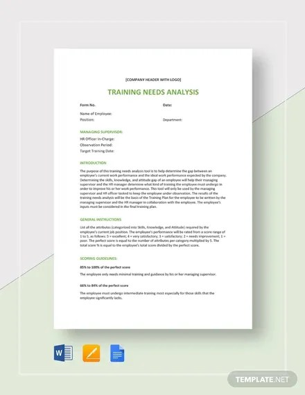 Sample Needs Analysis Template - 12+ Free PDF, Word Format Free