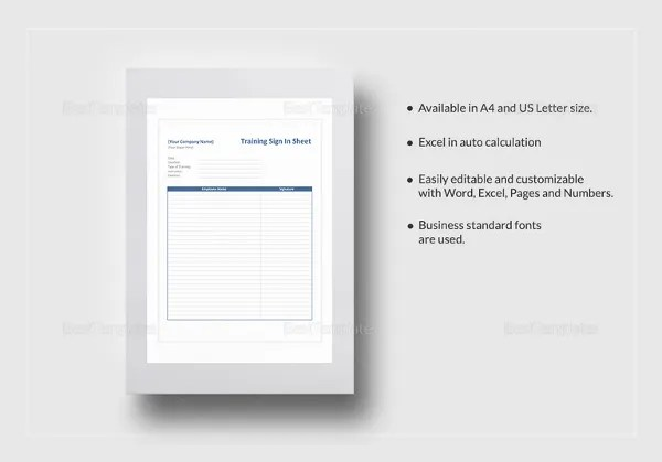 Employee Sign-In Sheet Template - 11+ Free PDF Documents Download - sample training sign in sheet