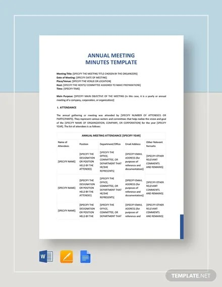 24+ Meeting Minutes Templates - PDF, Google Docs, Apple Pages Free