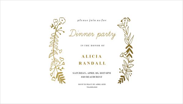 54+ Dinner Invitation Designs - PSD, AI Free  Premium Templates