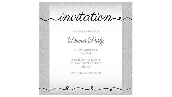53+ Dinner Invitation Designs Free  Premium Templates - dinner party invitation sample