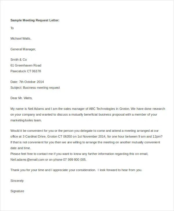 Request Letter Samples Free - Template Examples - formal request letters