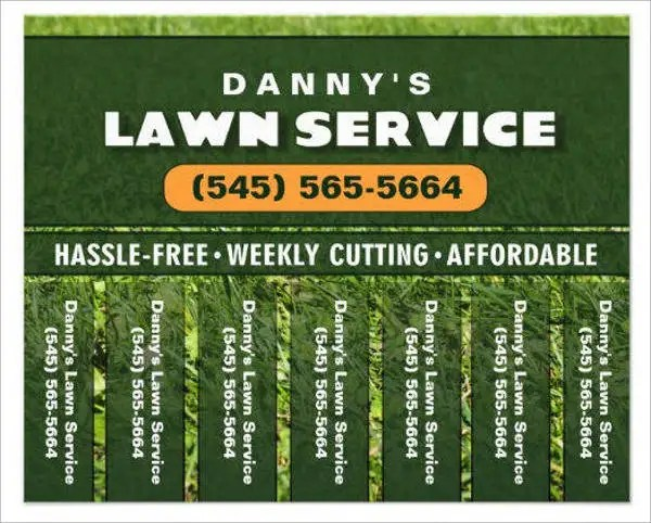 7+ Lawn Mowing Flyers - Printable PSD, AI, Vector EPS Format - lawn services flyer