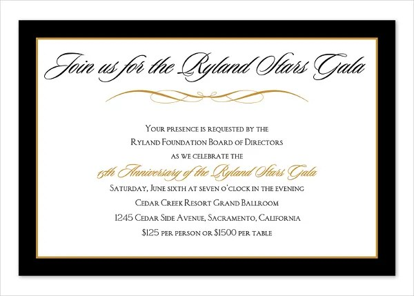 corporate dinner invitation template - Ozilalmanoof - Corporate Party Invitation Template