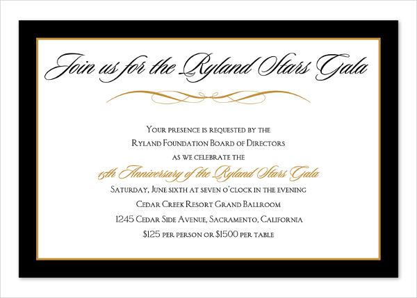 corporate dinner invitation template - Ozilalmanoof