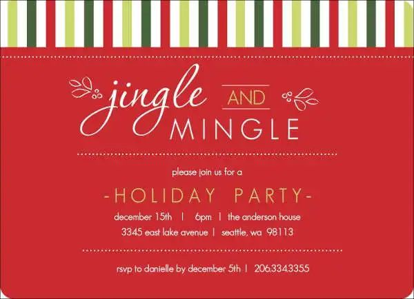 holiday office party invitation templates
