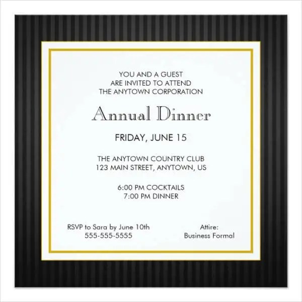 Dinner Invitation Templates Free \ Premium Templates - dinner invitation template