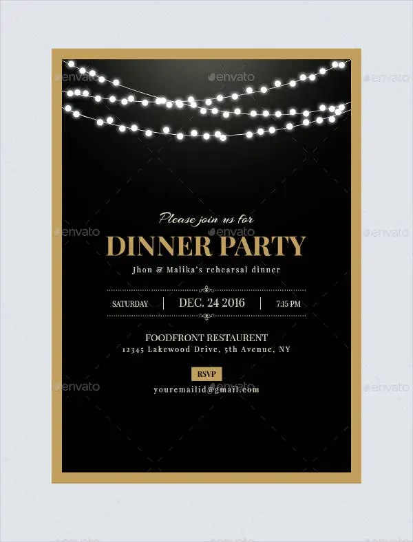 Dinner Invitation Templates Free  Premium Templates - dinner invite templates