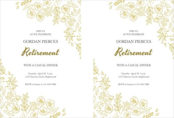 Free Party Invitation Free  Premium Templates - retirement invitation templates free printable