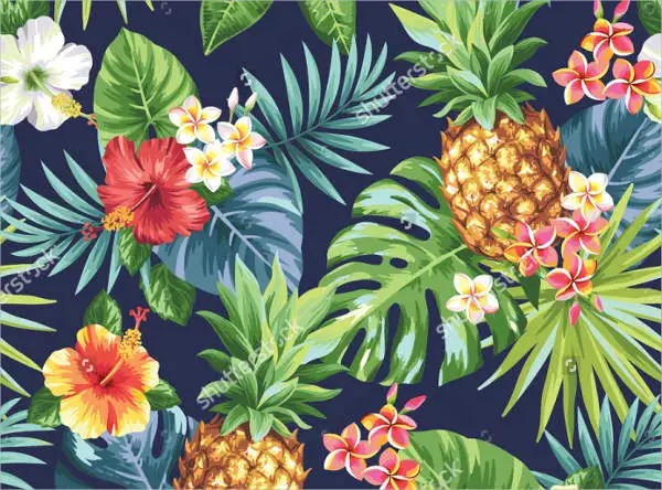 Jungle Wallpaper With Animals 8 Tropical Patterns Free Psd Png Vector Eps Format