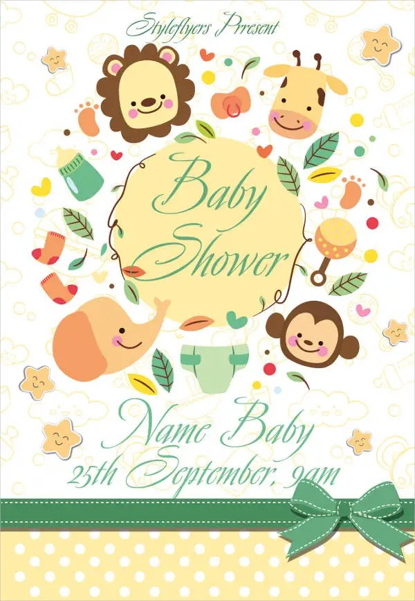 8+ Baby Shower Flyer - Printable PSD, AI, Vector EPS Format Download - baby shower flyer template free