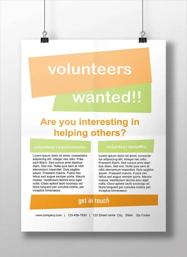 11+ Volunteer Flyers - MS Word, Pages, PSD, Vector EPS Free