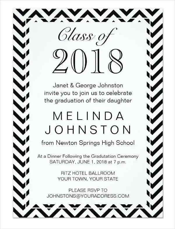 47+ Printable Dinner Invitation Templates Free  Premium Templates - free printable invitations graduation