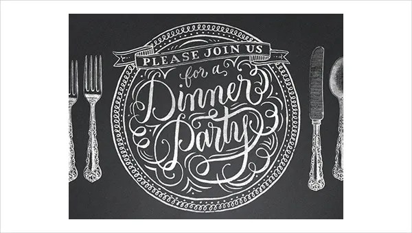 47+ Printable Dinner Invitation Templates Free  Premium Templates - Free Printable Dinner Party Invitations