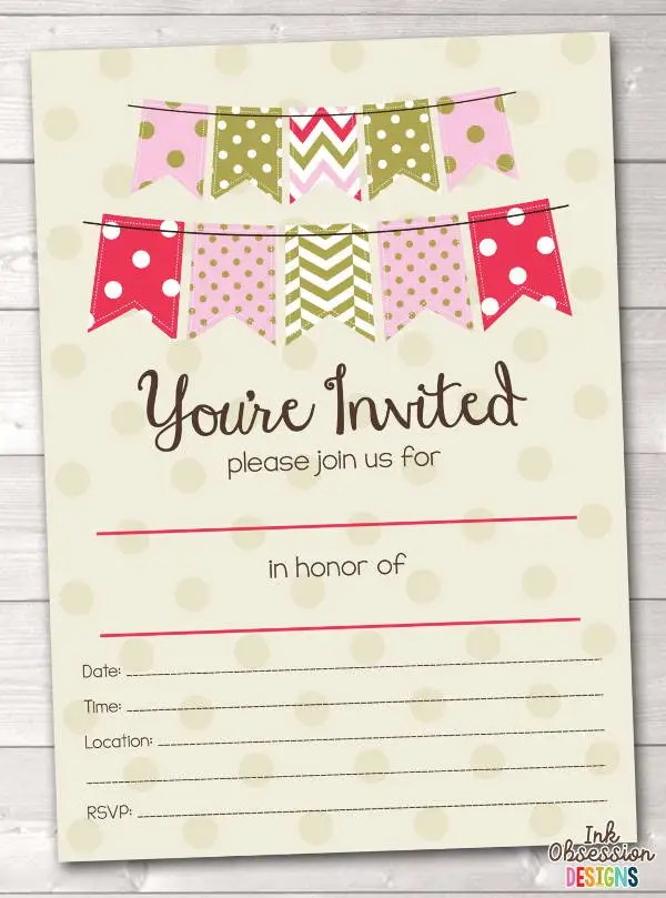 7+ Blank Party Invitations - Free Editable PSD, AI, Vector EPS
